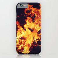iPhone & iPod Case featuring Let It Burn by catdossett