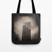 Ravens, Clouded Sky Tote Bag