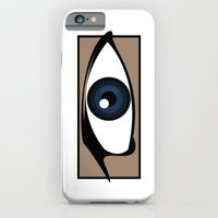 iPhone & iPod Case featuring Blue Gaze by The Vector Studio