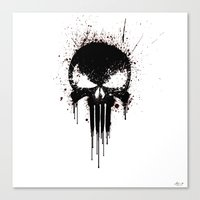 Black Skull Canvas Print