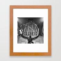 Atlas In The Rain Framed Art Print