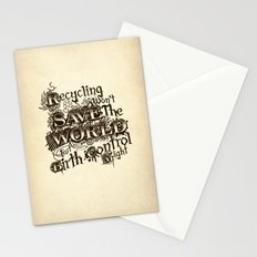 Recycling wont save the World Stationery Cards