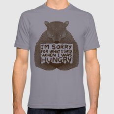 I'm Sorry For What I Said When I Was Hungry Mens Fitted Tee Slate SMALL