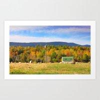 Barn In Field, Mt. Jacks… Art Print