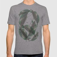 Leaves Mens Fitted Tee Athletic Grey SMALL