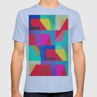Colorful Truth. Red Mens Fitted Tee Athletic Blue SMALL