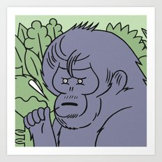 Andy_foster91 special edition ape print  Art Print
