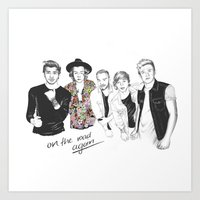 one direction Art Prints featuring One Direction by Stephanie Recking