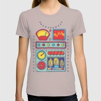 Retrobot Womens Fitted Tee Cinder SMALL