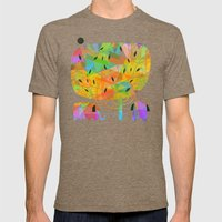 SHADE TREE Mens Fitted Tee Tri-Coffee SMALL
