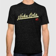 Nuka-Cola Mens Fitted Tee Tri-Black SMALL