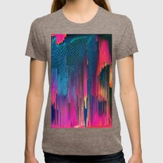 Party Puke  Womens Fitted Tee Tri-Coffee SMALL