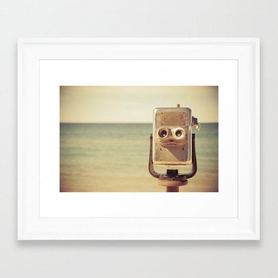 Robot Head Framed Art Print