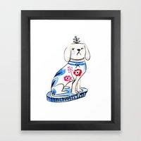 Fancy Little Dog  Framed Art Print