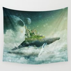 Flying kingdoms Wall Tapestry