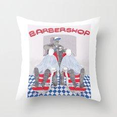 Barbershop Throw Pillow