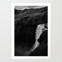 The Plunge - Seljalandsfoss  Art Print