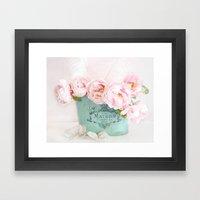 Shabby Chic Pink Paris Peonies  Framed Art Print