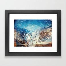 Solar Eclipse Flight - Silver Wings Framed Art Print