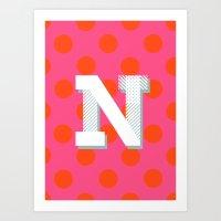 N Is For Nice Art Print
