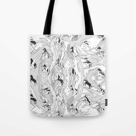 Zebra Cowboys Tote Bag