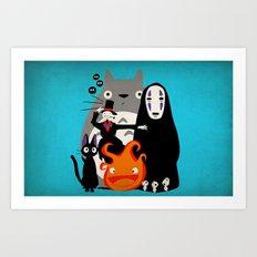 Ghibli'd Away Art Print