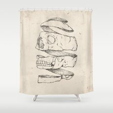 Twister Skull Shower Curtain