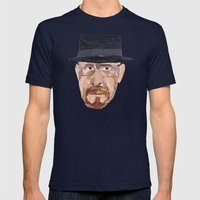 Walter White Collage Mens Fitted Tee Navy SMALL