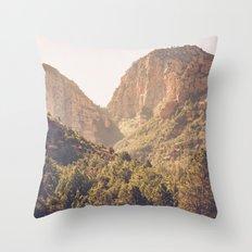 Hike at Devil's Bridge Throw Pillow