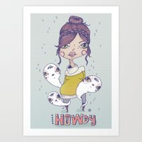 Howdy - From A Girl With… Art Print