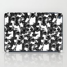 just penguins black white iPad Case