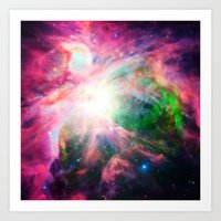 nebula Art Prints featuring Orion NebuLA Colorful Purple by 2sweet4words Designs