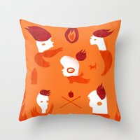 Firebirds Throw Pillow