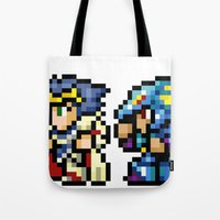 Final Fantasy II - Cecil and Kain Tote Bag