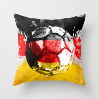 football germany Throw Pillow