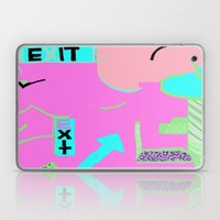 Exit In Hot Pink Laptop & iPad Skin