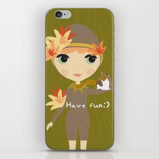 Forest Girl iPhone & iPod Skin