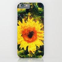 iPhone & iPod Case featuring van Gogh styled sunflowers version 1  by Julia Kovtunyak