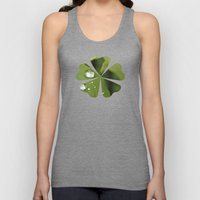 Green Leaves After Rain Unisex Tank Top