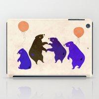 A sleepy bear party iPad Case