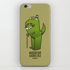 Mustachio Saurus Rex iPhone & iPod Skin