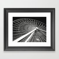 Navy Pier's Ferris Wheel Framed Art Print