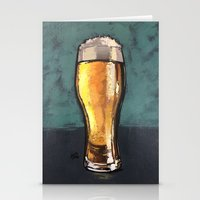Glass of Beer Stationery Cards