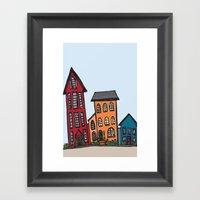 TownHouses Framed Art Print