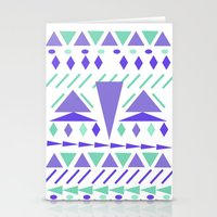 Arctic aztek white Stationery Cards