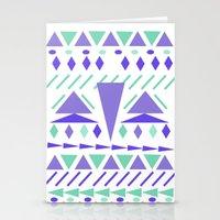 Arctic aztek white Stationery Cards