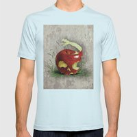 TENTATION Mens Fitted Tee Light Blue SMALL