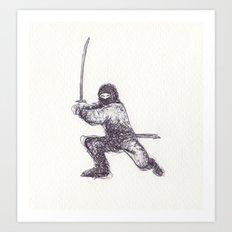 Ninja Quick Sketch Art Print