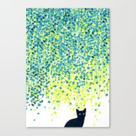 Cat In The Garden Under … Canvas Print
