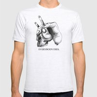 Handcigskull II Mens Fitted Tee Ash Grey SMALL